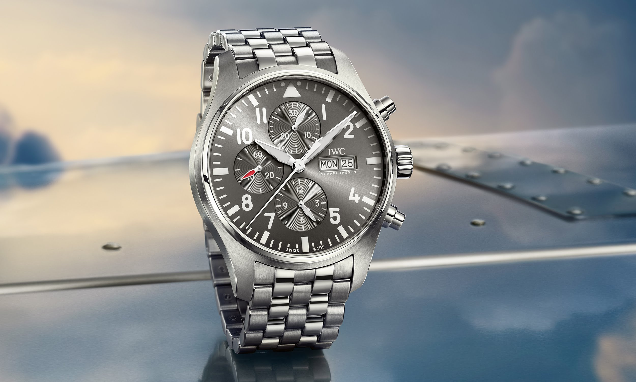 IWC Pilot's watch chronograph spitfire replica3