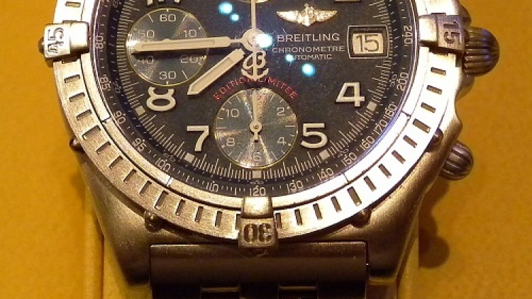 Replica Breitling Chronomat Chronograph Watches Steel Black Dial