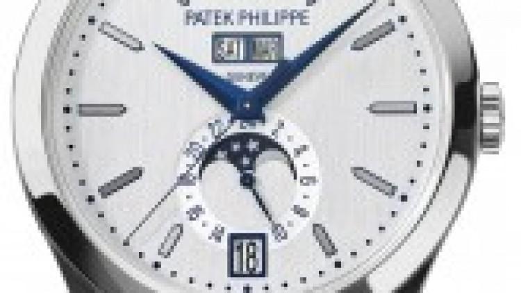 Unique Patek Philippe Replica Annual Calendar White Dial Titanium Watch Ref. 5396T