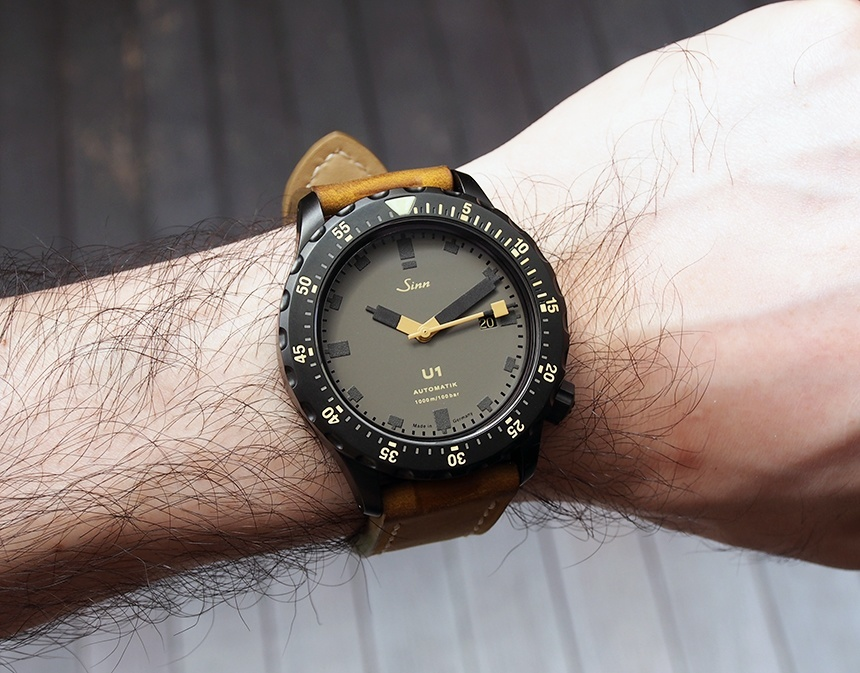 Replica Sinn U1-D 'Dune' Limited Edition Grey Dial Black Watch