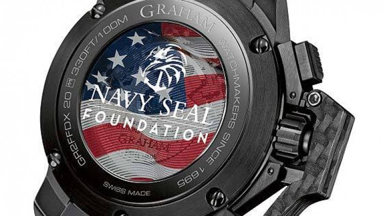Replica Graham Oversize Chronofighter Navy SEAL Foundation Black Rubber Watch