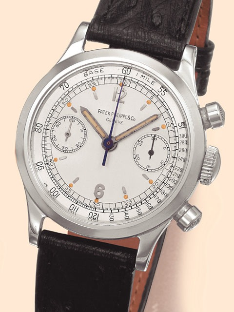Bring a Loupe Completely Replica Patek Philippe Chronograph Steel White Dial Watch Ref.1463