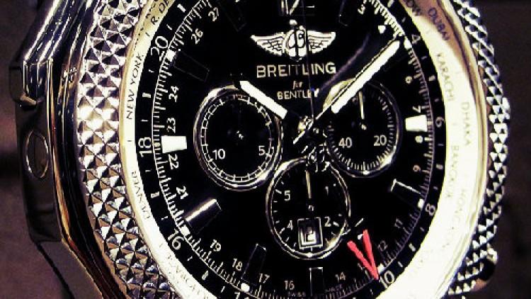 Breitling Bentley Replica Watches Steel Case Black Dial