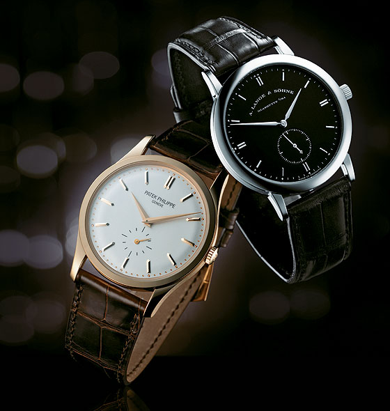 Replica Patek Philippe Calatrava vs. Lange Saxonia watch