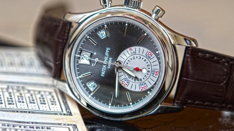 Patek Philippe Replica Annual Calendar Watches Rose Gold Case Black Dial