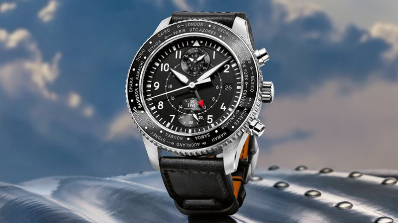 IWC Pilot's Replica Watches Timezoner Chronograph Steel Case