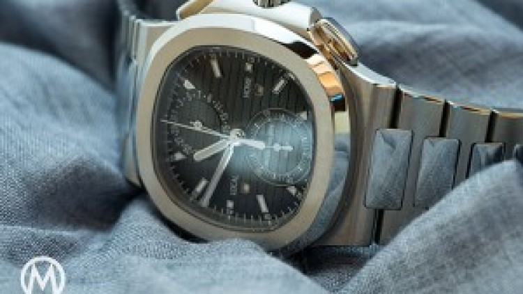 Patek Philippe Nautilus Chronograph Replica Watches Rose Gold Ref. 5164