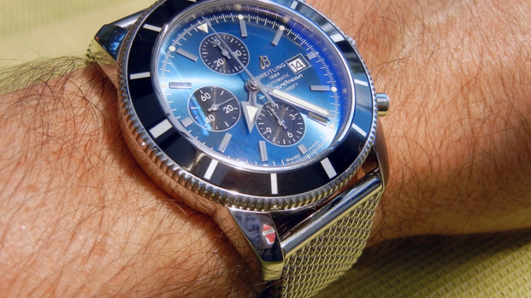 TAG Compare With Breitling Transocean Blue Dial Steel Watch: Who is Bigger One?