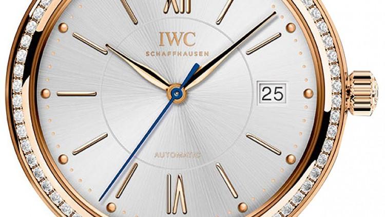 Luxury Replica IWC Portofino Midsize Rose Gold Diamond Automatic Watches