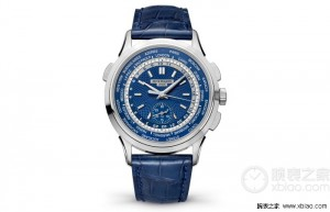 Patek Philippe Complications Worldtime Chronograph Blue Opaline Dial Replica Wtches Ref. 5930