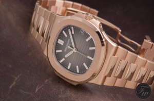 Swiss replica Patek Philippe nautilus 5711 rose gold case