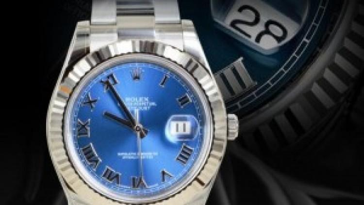 Rolex Datejust II Steel Case Blue Dial Replica Watches