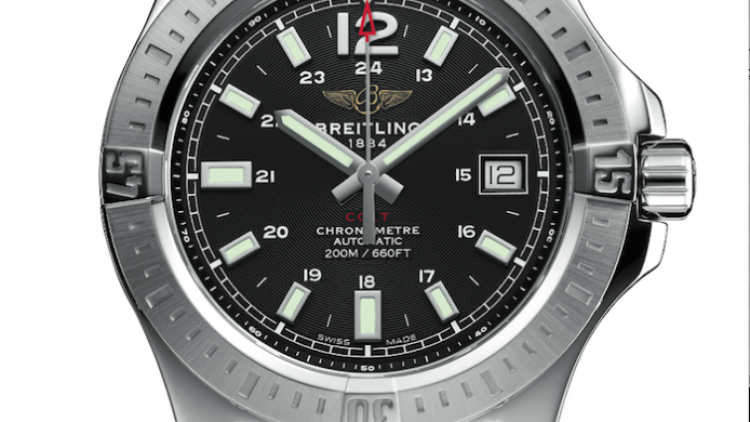 Replica Breitling Colt Black Dial Steel Automatic Mens Watch