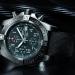black dial breitling super avenger black steel replica watch