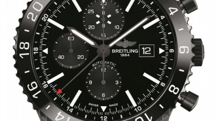The Breitling Chronoliner Blacksteel Replica Watch