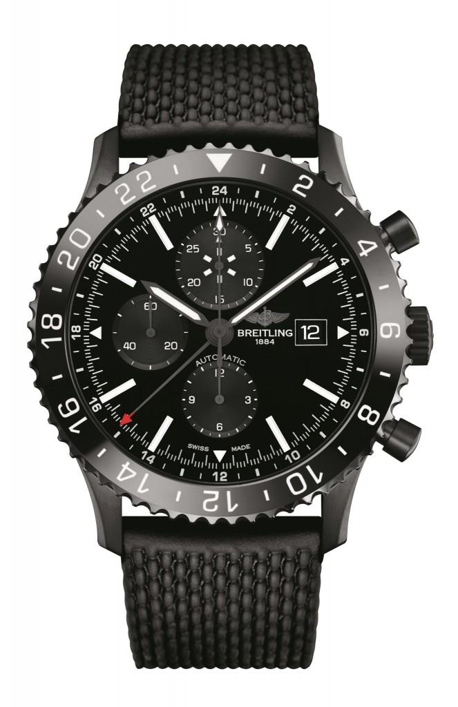 The Breitling Chronoliner Blacksteel Replica Watch