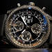 Black Dial Black Rubber Strap Breitling Bentley Replica Watch