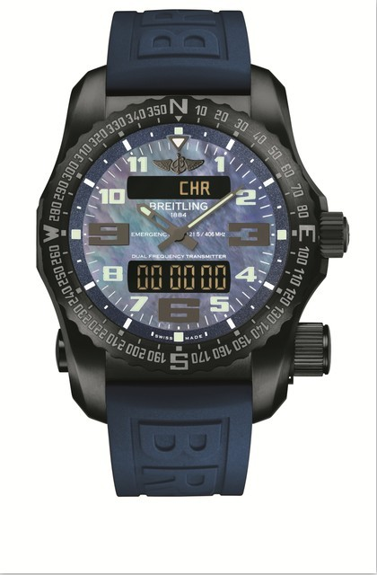 Black MOP Dial Breitling Emergency Replica Watch