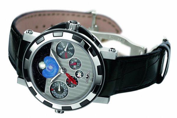 Top Quality DeWitt Academia Quantieme Perpetuel Nebula GMT Replica Watch