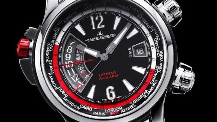 Black Rubber Jaeger-LeCoultre Master Compressor Extreme W-Alarm Replica Watch
