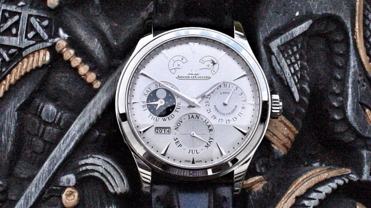 Cheap jaeger lecoultre master 8 days perpetual stainless steel replica watch