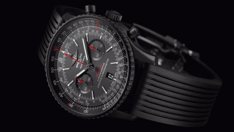 Best Breitling Navitimer 46 Blacksteel Replica Watch
