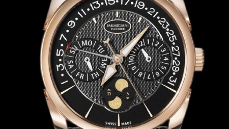 Pink Gold Parmigiani Fleurier Tonda Quantieme Annuel Retrograde Replica Watch