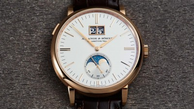 A. Lange & Söhne Saxonia Moonphase Rose Gold Replica Watch