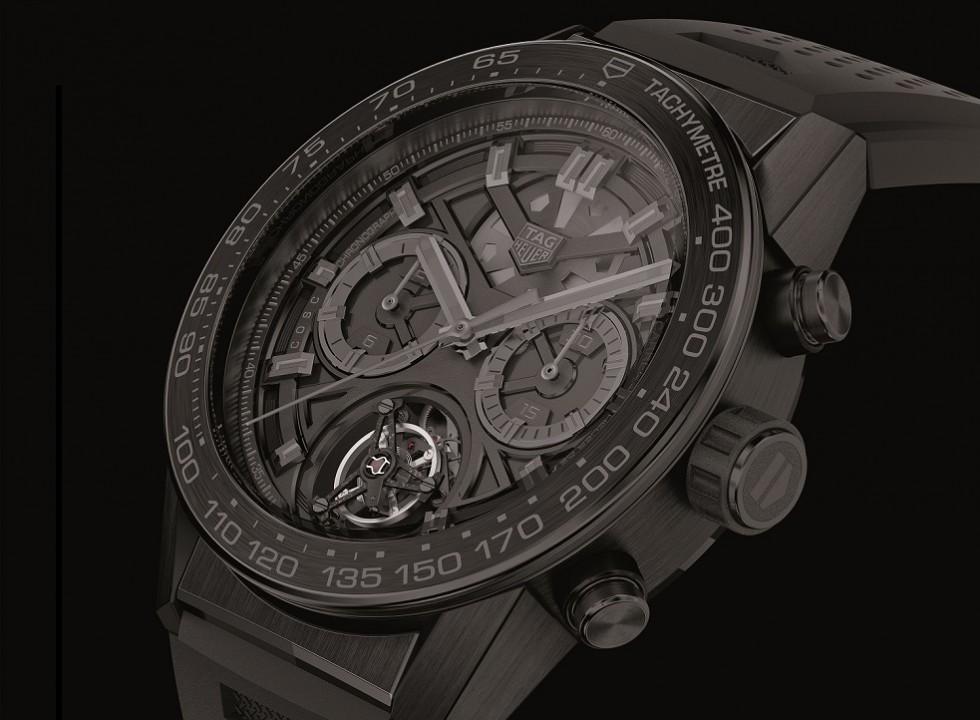 Best TAG Heuer Carrera Heuer-02T Black Phantom Replica Watch