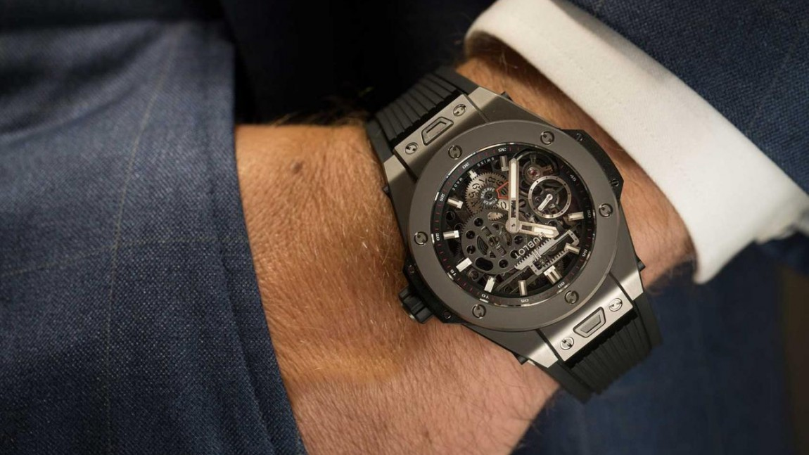 Best hublot big bang meca-10 all black replica watch