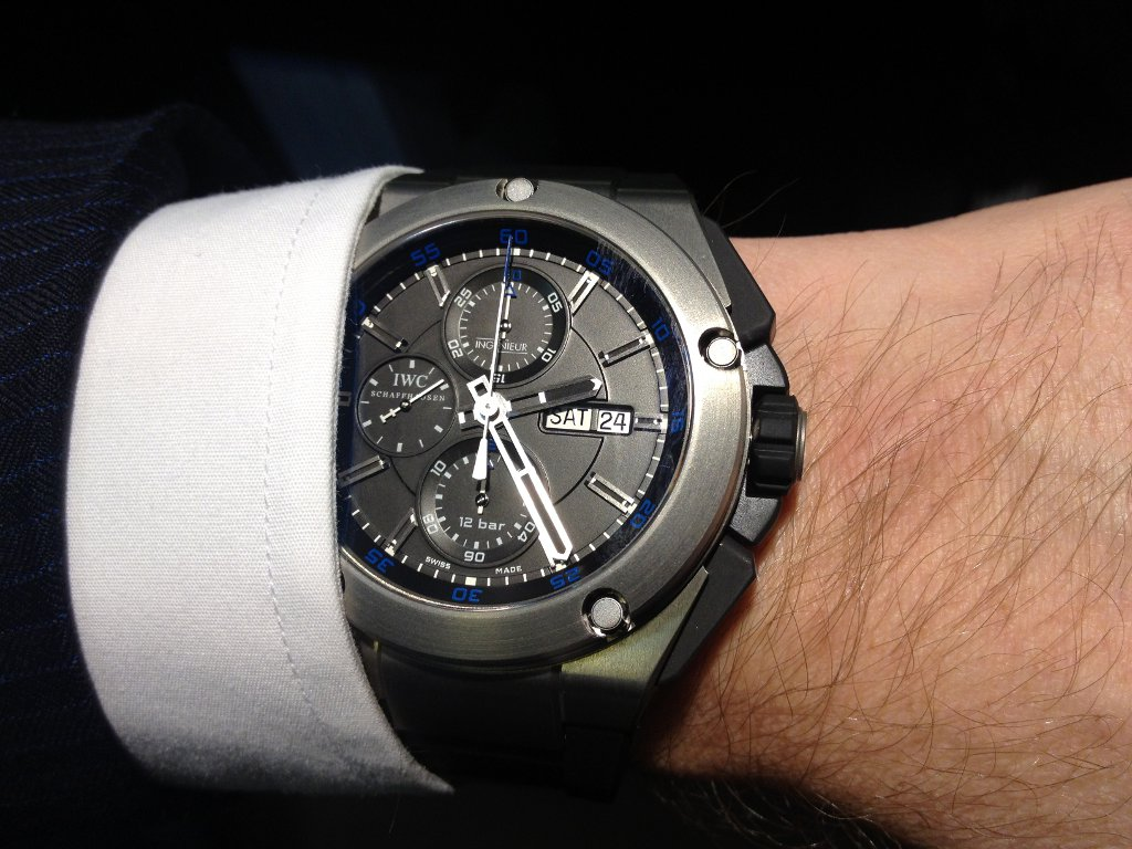 Cheap Price IWC Ingenieur Double Chronograph Titanium Replica Watch