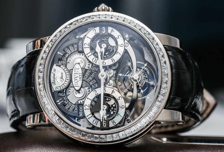 Top Grade Bovet Recital 16 Triple Time Zone Tourbillon Watch Hands-On Replica Expensive