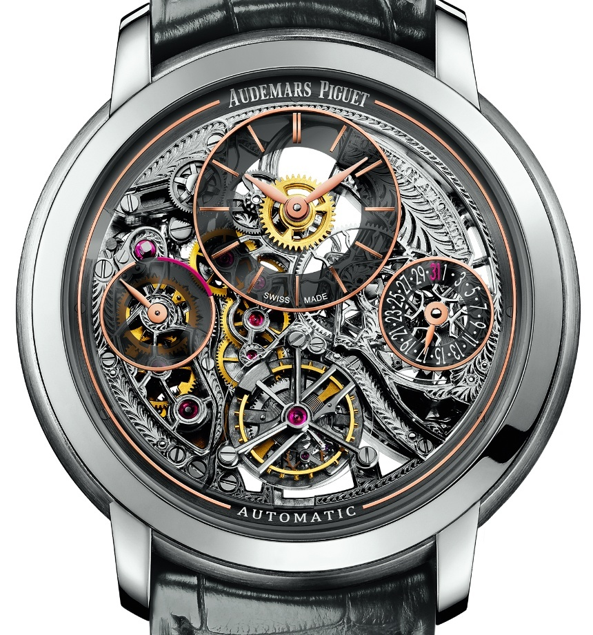 High End Audemars Piguet Jules Audemars Tourbillon Openworked Watch Replica For Sale