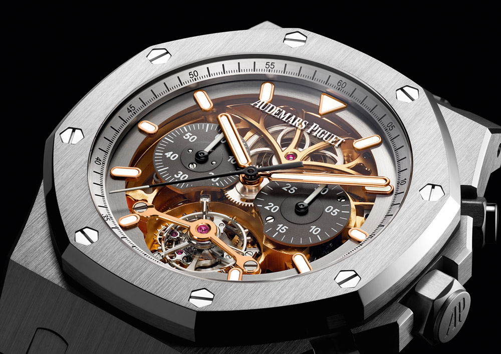 High Grade Audemars Piguet Royal Oak Tourbillon Chronograph Openworked Material Good Watch Replica Suppliers