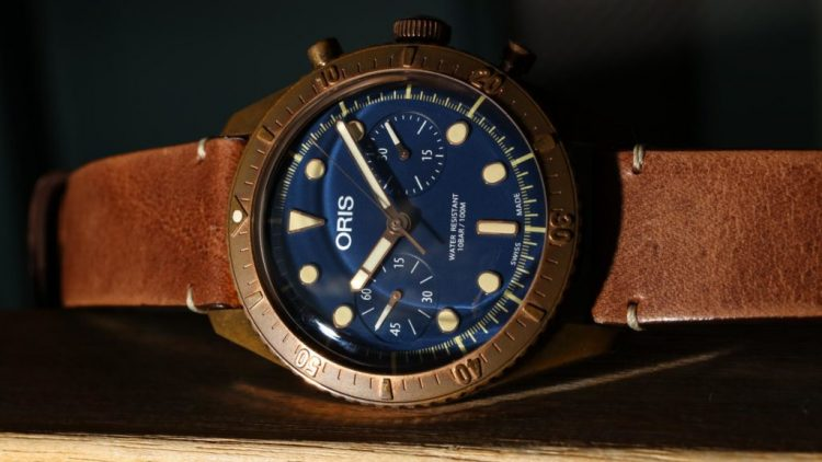 Oris Carl Brashear Chronograph Limited Edition Bronze Watch Hands-On Japanese Movement Replica