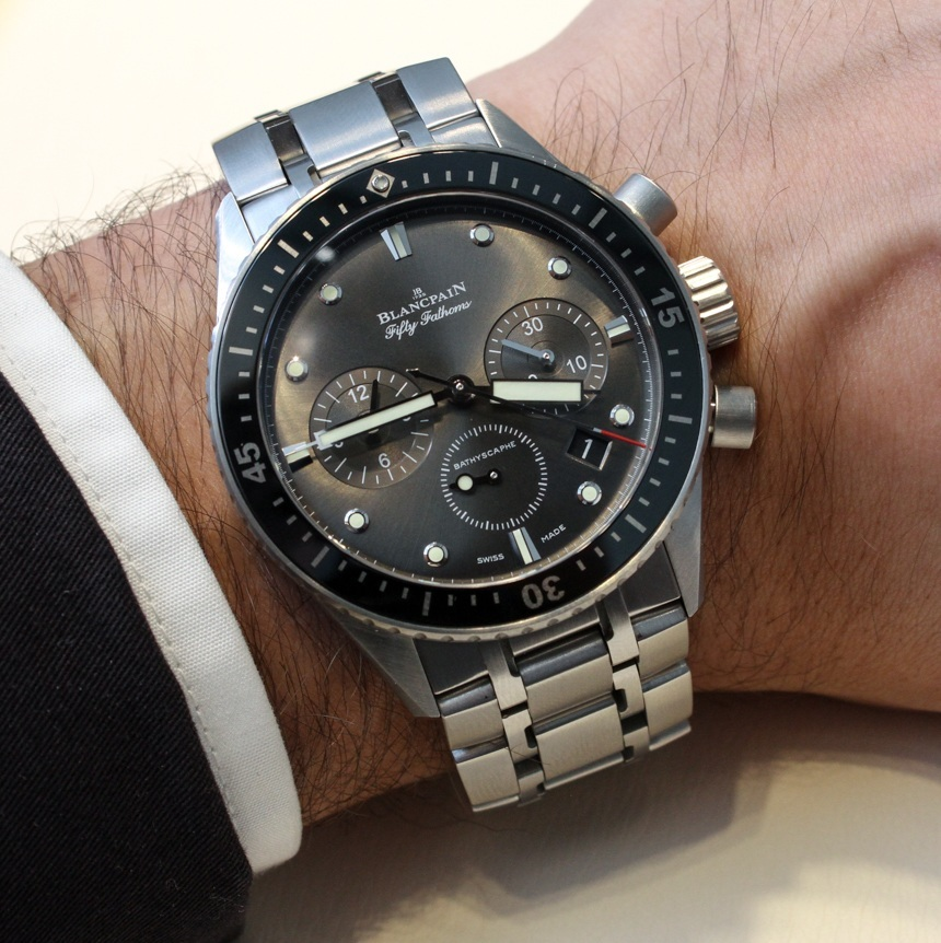 Blancpain Fifty Fathoms Bathyscaphe Flyback Chronograph Watch Hands-On Hands-On