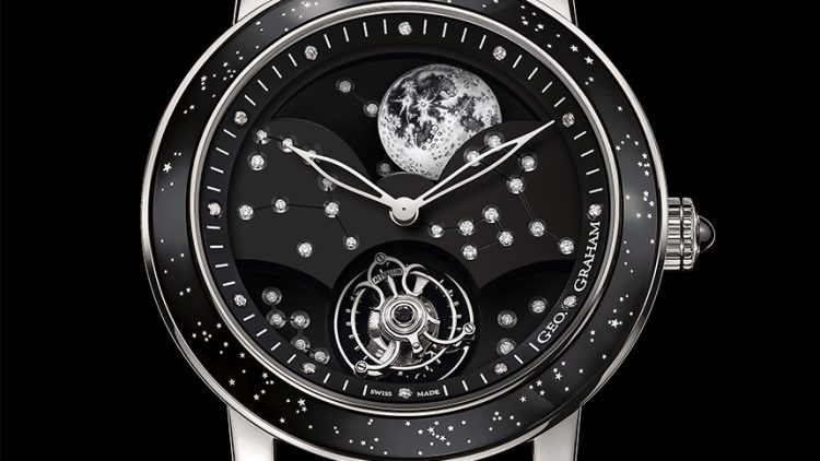 Perfect Clone Online Shopping Graham Geo.Graham The Moon Watch Today  At A White Gold Case With Black Dial