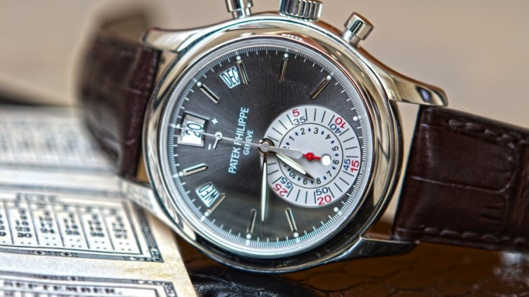 Patek Philippe Replica Annual Calendar Watches Rose Gold Case Black Dial