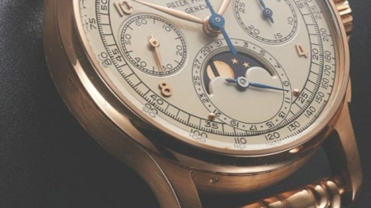 Replica Patek Philippe Perpetual Calendar Chronograph Rose Gold White Dial Watch