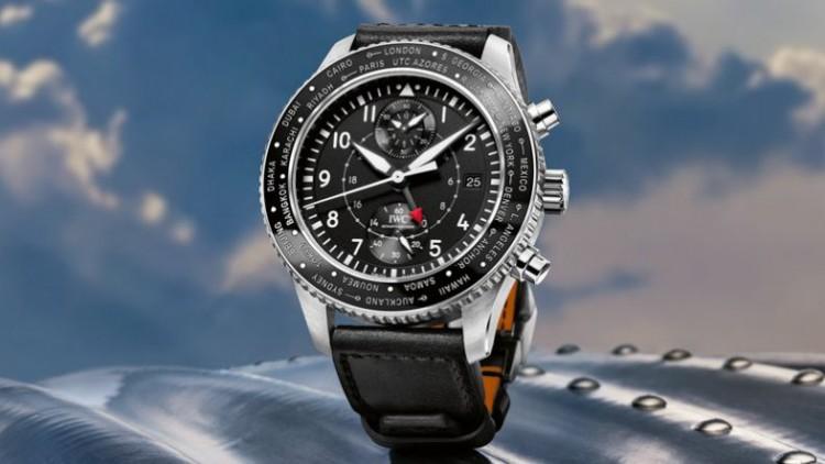 IWC Pilot's Replica Watches Timezoner Chronograph Steel Case