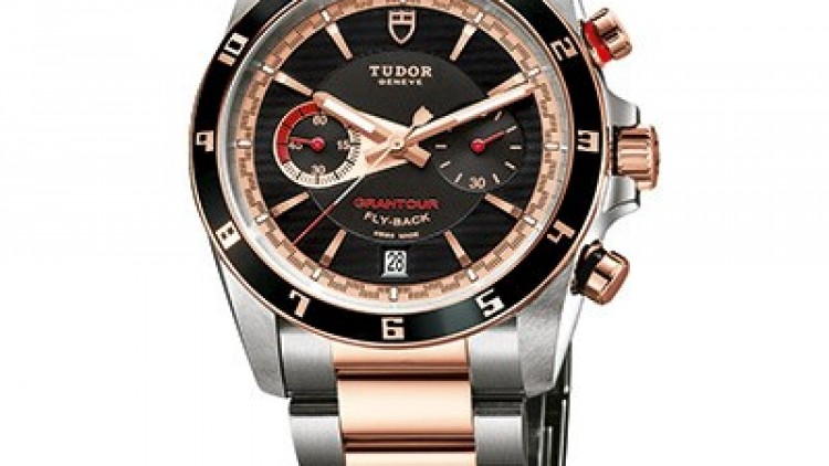 Best Replica Tudor Grantour Flyback Steel and Rose Gold Mens Watches