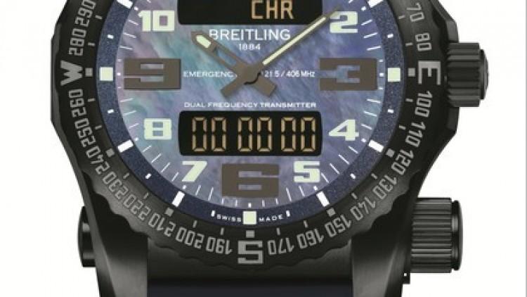 Black MOP Dial Breitling Emergency Replica Watch