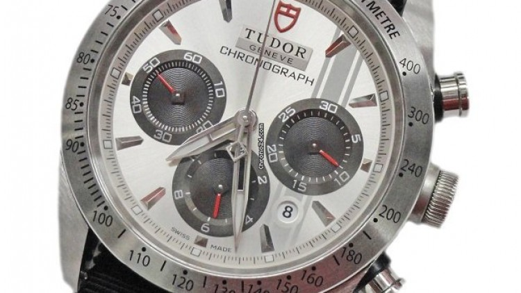 Top Quality Fabric Strap Steel Case Tudor Fastrider Replica Watch