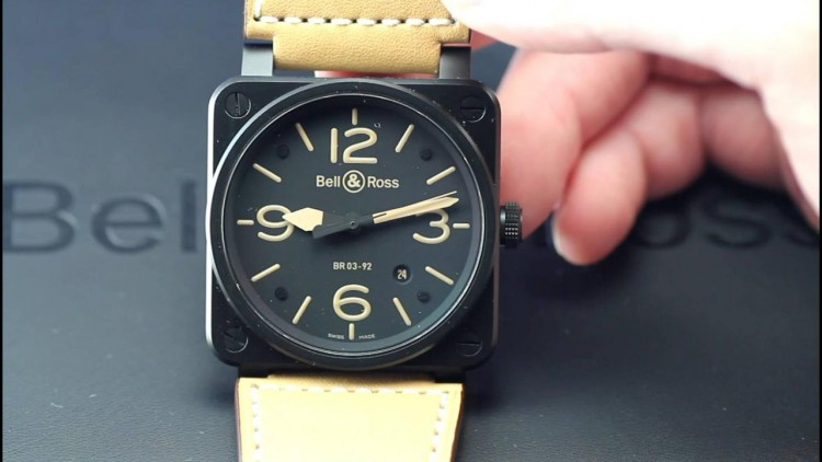 Square cases bell and ross br03-92 heritage replica watch