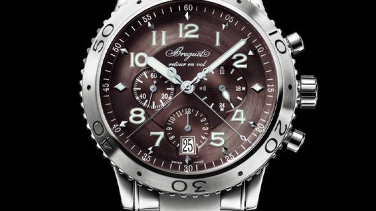 Brown Dial Steel Case Breguet Type XXI 3810 Replica Watch