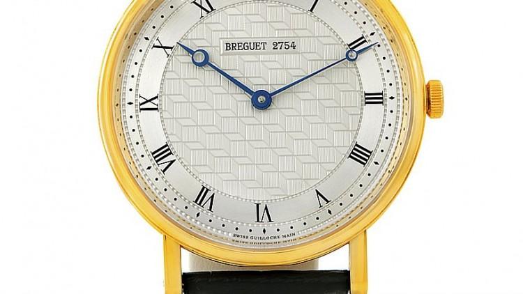 Silver Dial Breguet Classique 5967 Yellow Gold Replica Watch