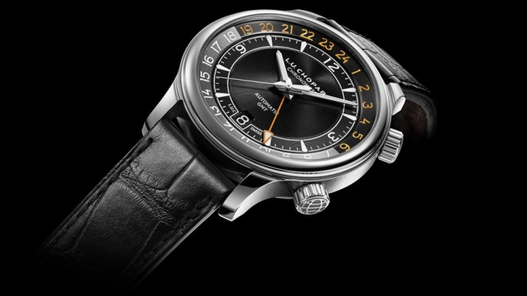 Black Dial Chopard L.U.C GMT One Replica Watch