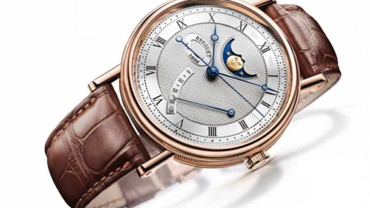39 mm 18K White Gold Breguet Classique Moonphase Replica Watch