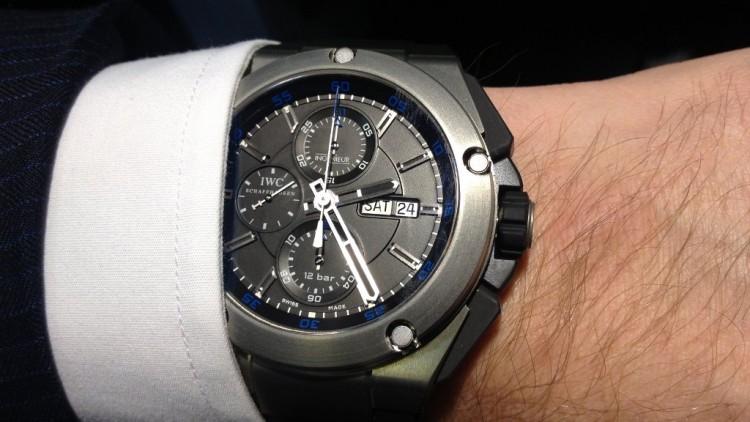 Cheap Price IWC Ingenieur Double Chronograph Titanium Replica Watch