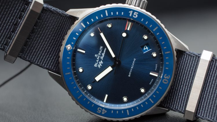 Replica At Lowest Price Blancpain Fifty Fathoms Bathyscaphe Blue & Ceramic Watch Hands-On